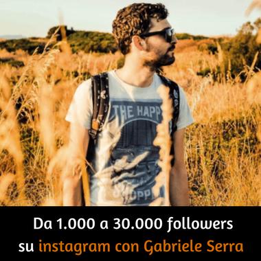 da 1000 a 30000 followers su instagram